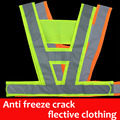 chaleco reflectante Anti freeze crack reflective vest V clothing high visibility Safety belt article Safe in Night Reflective