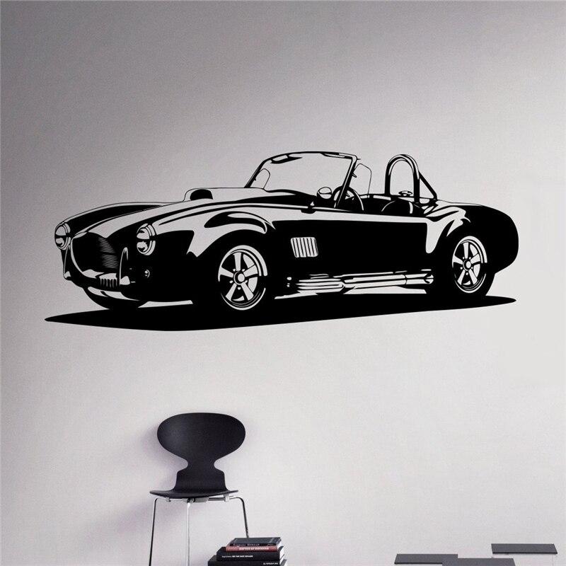 Classic Car Wall Decal Racing Vinyl Sticker Home Decor Ideas Art Interior Removable Design X025