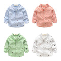 Camisa Dos Miúdos Meninos do bebê mangas compridas de algodão primavera e no Outono