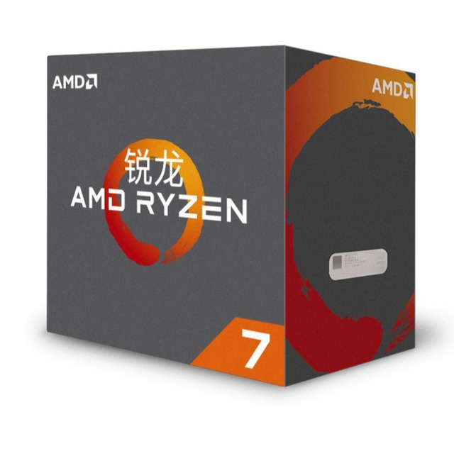High Performance AMD Ryzen 7 1700 CPU 3.0 GHZ 8 Core 16 Threads 65 W TDP AM4 Interface