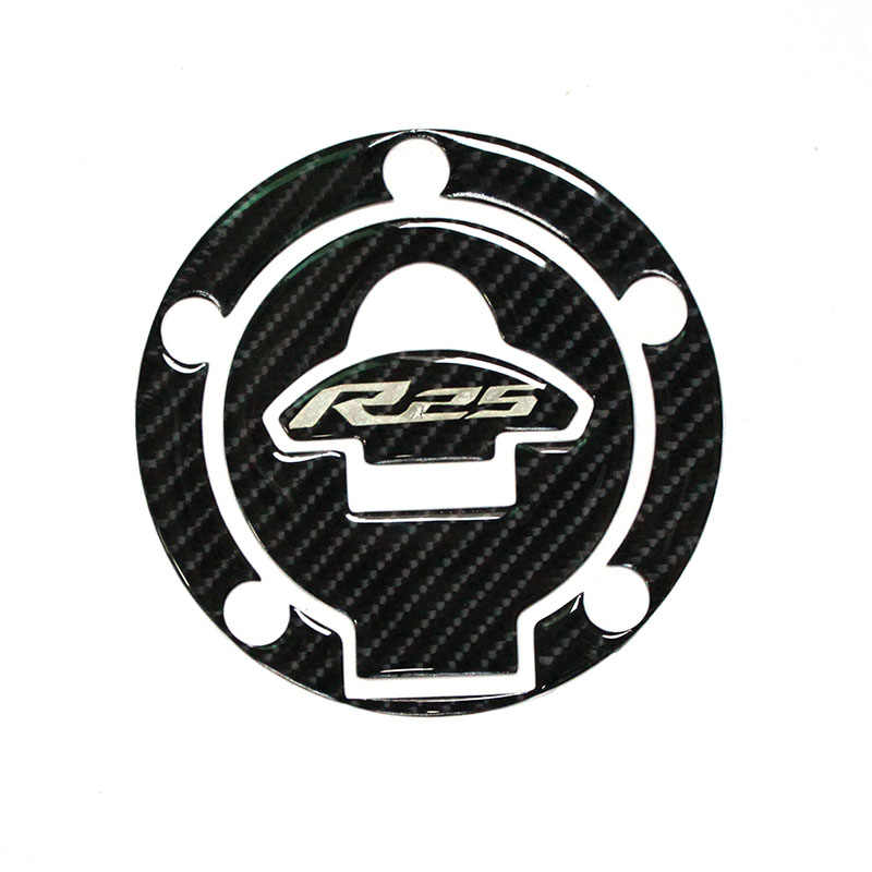 3D รถจักรยานยนต์สติกเกอร์คาร์บอนถังแก๊ส Cap Pad Filler สติกเกอร์ Decals Moto สติกเกอร์สำหรับ YAMAHA YZF-R25