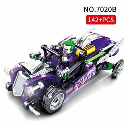 2019 New arrival Marvel Avengers Super Heroes clown Super Racing car war chariot Model Building Blocks Toys For children Gifts