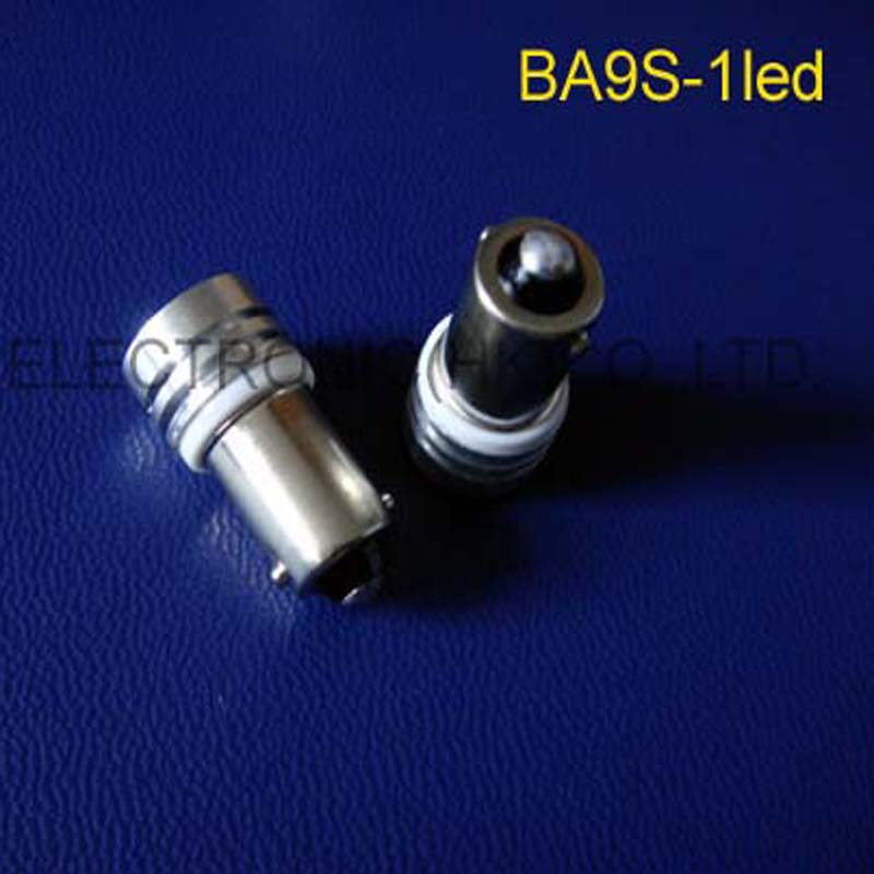 High quality 1W 6V BA9s led Warning lights,6.3v BA9s led Indicator lights Led Signal lights,Pilot lamps free shipping 50pcs/lot