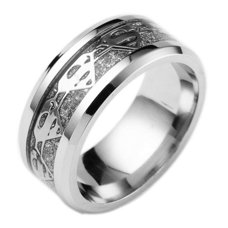 2017 fashion jewelry 316l stainless steel men ring gold color superman ring wedding ring party - Superman Wedding Ring