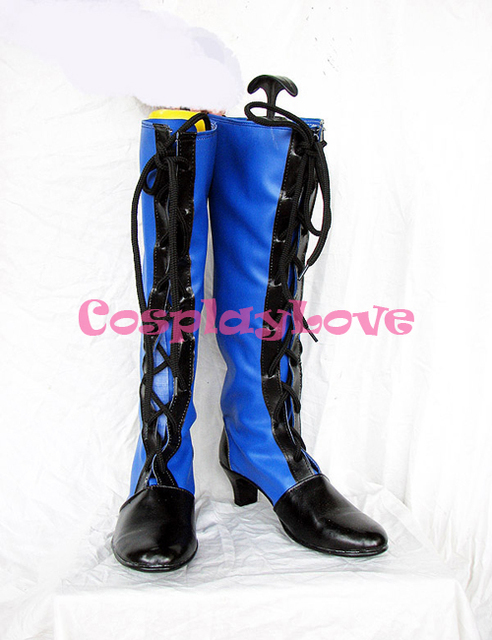 Black Butler Kuroshitsuji Ciel Blue Boots Cosplay Shoes Boots Custom Made