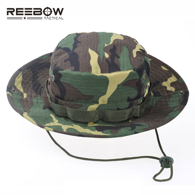 034f75b9159a4 REEBOW Tactical Boonie Hat Military Men Women Outdoor Travel Camouflage Bucket  Hat Army Training Mountaineering Army