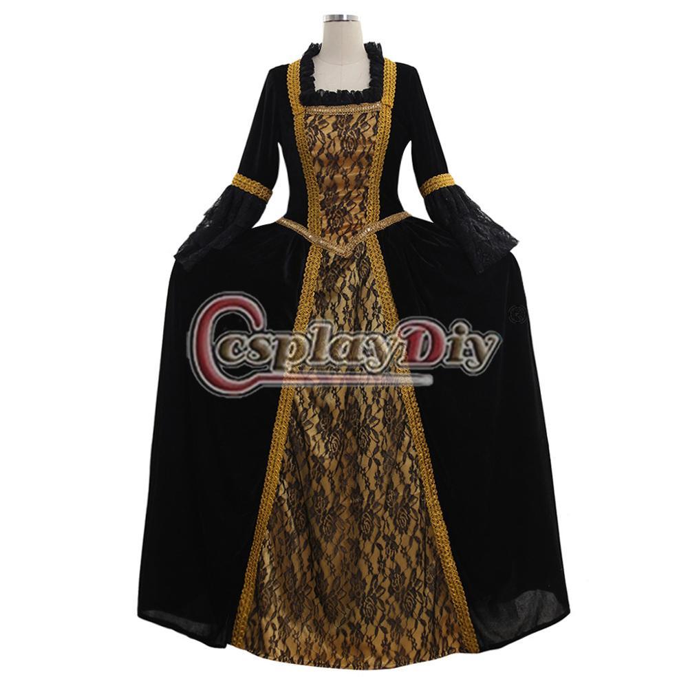 25d133ccab4f0 US $123.0 |Marie Antoinette Baroque Medieval Aristocrat Gothic British Mens  Suit Women Rococo Baroque Dress Couples Wedding Set-in Holidays Costumes ...