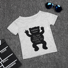 New summer style Cotton little monsters short sleeve infant clothes 2 pcs baby clothing sets baby boy clothes