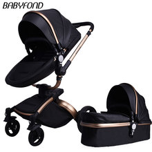 2 in 1 Europe baby strollers brand baby carriage pink white black colors Pu leather comfort high quality baby car