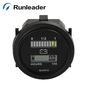 Runlead RL-BI004 светодиодный индикатор заряда батареи и счетчик часов для тележек для гольфа автомобильный скутер Мотоцикл морской вилочный погр...