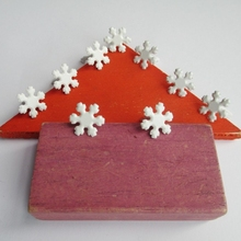 300pcs 12mm 16mm Scrapbooking Metal Brads Snowflake Christmas Gift White Glitter Snowflakes Paper Crafts Gifts Photo Album DIY