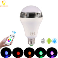 CANMEIJIA Intelligent E27 RGB LED Bulb Bluetooth Speaker Music Player Lights Lamp Dimmable Ampoule Led App