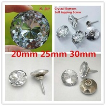 20mm Gem flower self tapping screw crystal button top crystal buckle sofa button background wall decoration crystal button new coming 100pcs 25 35mm crystal nail buckle crystal nails button sofa wall decoration furniture accessories crystal buckle