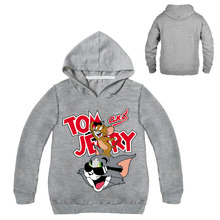 Tom And Jerry Cartoon Hoodie For Girls Kids Boys Sweatshirt For Girls Long Sleeve Tees For Boys Clothes Hoodies 2019 Spring tops
