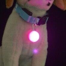 1 Pcs LED Haustier Hund Kragen Nette Anhänger Nacht Sicherheit Anhänger Luminous Night Licht Kragen Pedant Pet Liefert Hund Zubehör