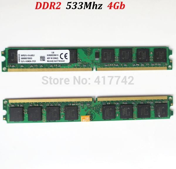 8Gb memoria RAM <font><b>DDR2</b></font> 533 4Gb / PC2-4200 PC2 4200 4G 533Mhz ddr 2 4g <font><b>4</b></font> <font><b>gb</b></font> ( for <font><b>AMD</b></font> for Intel )-- lifetime warranty image