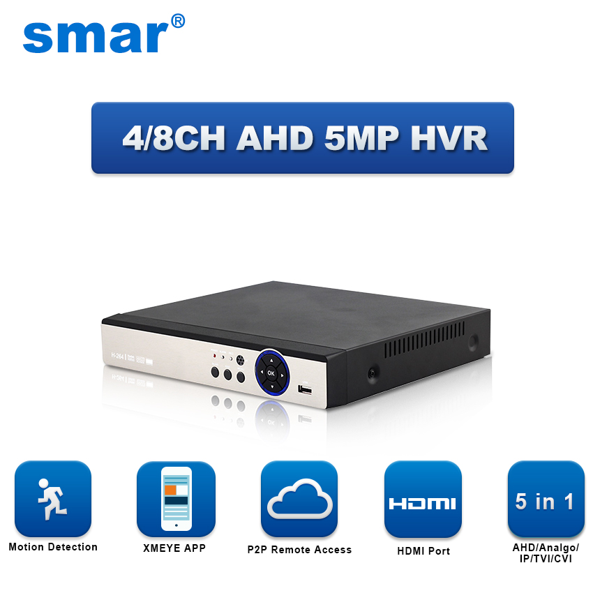 5 in 1 4CH 8CH Sicherheit CCTV DVR AHD 5MP 4MP 3MP 1080 p H.264 Hybrid Video Recorder für AHD TVI CVI Analog IP Kamera Onvif IP 5MP