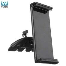 YUNAI Universal Car CD Slot Mobile Phone Tablet Mount Holder Stand For Ipad For Samsung Adjustable 10inch Tablets Holder Stander