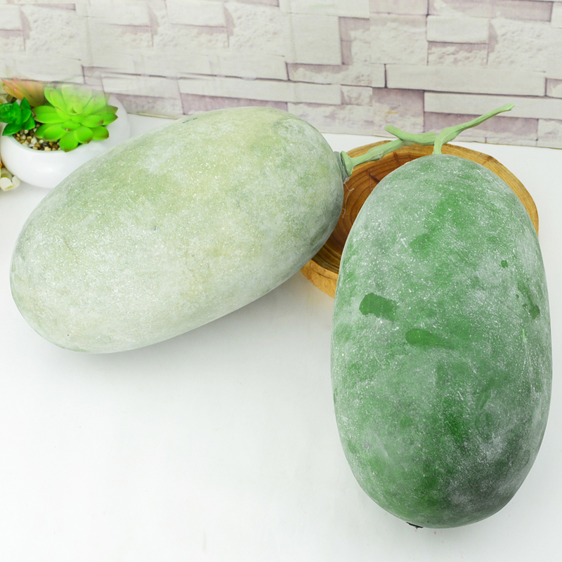 050 Simulation of wax gourd winter melon fake fruit food modeling decoration photography props Fake winter melon in Artificial Foods Vegetables from Home Garden