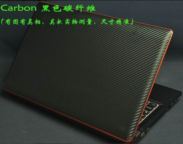 KH Laptop Carbon fiber Crocodile Snake Leather Sticker Skin Cover Guard Protector for <font><b>Lenovo</b></font> <font><b>V580</b></font> 15.6