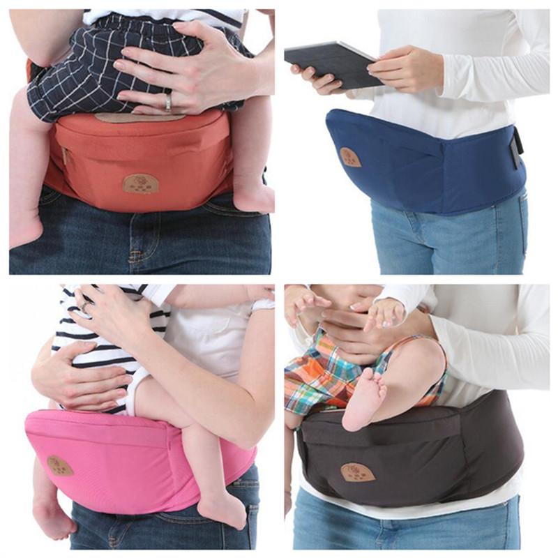 0 48Months Baby Solid Color Cotton Carriers Kids Waist Stool Sling Hold Waist Belt Backpack Newborn Infant Belt Holdings Walker in Backpacks Carriers from Mother Kids