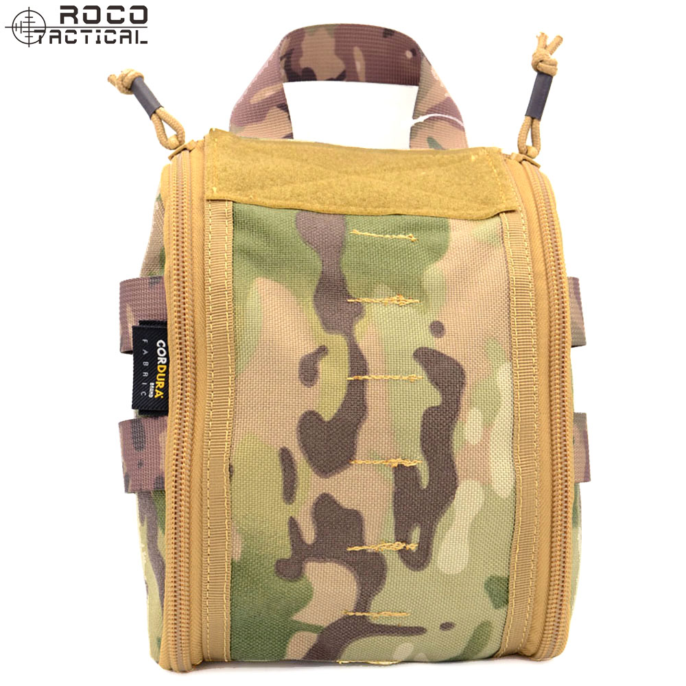 Tactical Molle Medical First Aid Pouch Magazine Drop Bag Taktische Tasche Tan