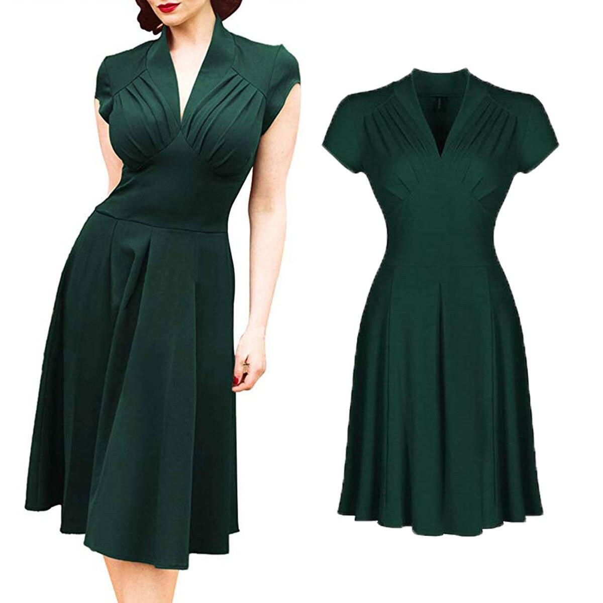 Vestido vintage feminino 50s 60s retro rockabilly pinup dona de casa festa balanço chá vestidos elegantes vestido formal