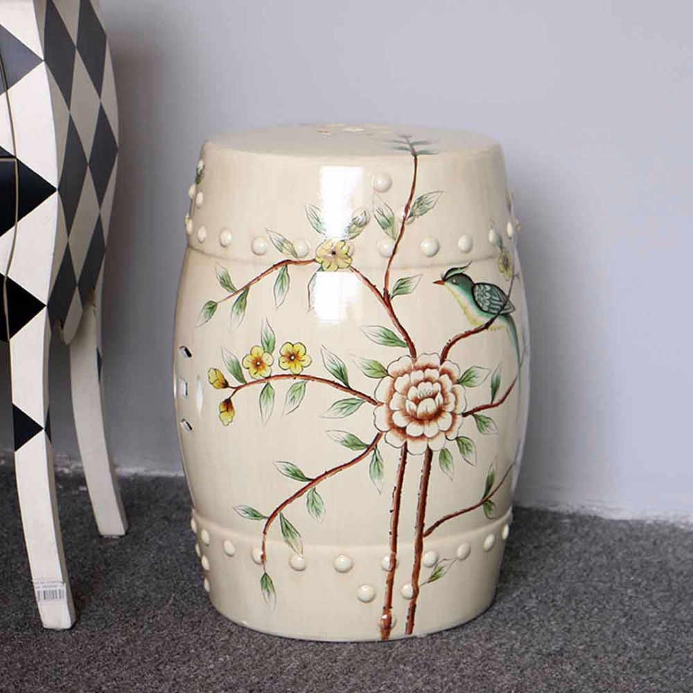 все цены на Indoor furniture chinese ceramic garden stool with flower and bird design онлайн