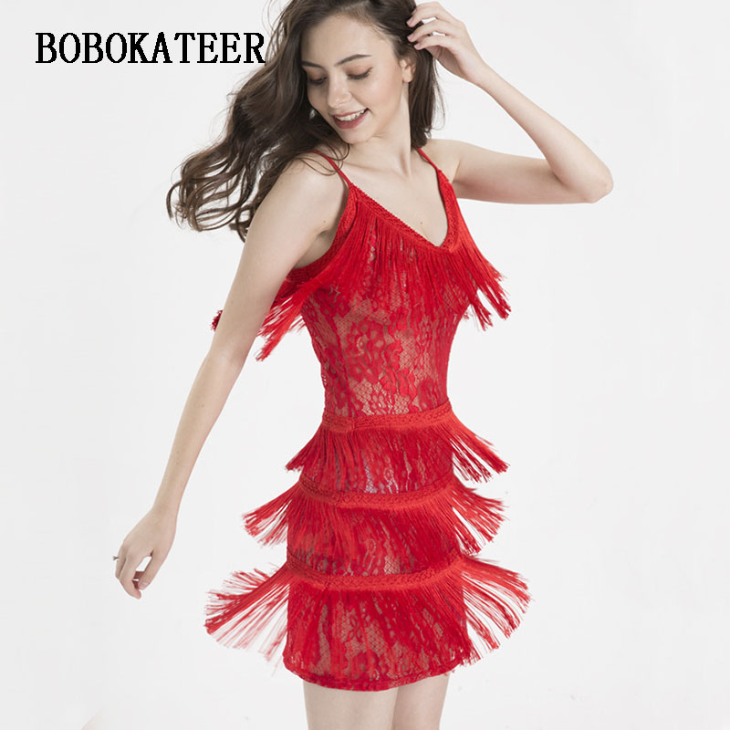 BOBOKATEER summer dress women vestidos mujer 2019 bandage dress beach robe femme lace bodycon dress sleeveless red dress