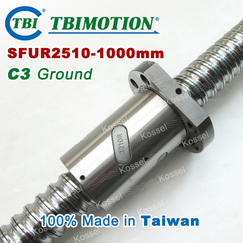 Hot Sale BallScrew assembly  SFU2510 -1000mm ball screw SFU2510 ball nuts and end machined for high stability linear CNC diy kit tbi dfi 2505 600mm ball screw milled ballscrew and end machined for high stability linear cnc diy kit