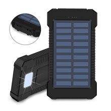 (Sem bateria) caso solar do carregador do banco de potência do diodo emissor de luz 50000 mah caixas de armazenamento da bateria do usb duplo de diy olhar detalhe para operar a caixa da bateria