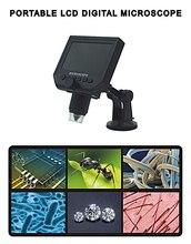 """Портативный USB Цифровой Электронный Микроскоп Камера 1-600X 3 .. 6MP Со 4.3 """"HD OLED Экран Увеличение VGA 8 LED Непрерывный"""