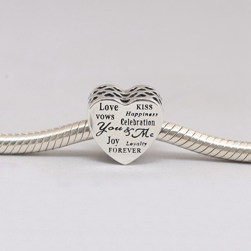 c7f4cc8f8 Celebration Love Kiss Happiness Joy Vows Forever Heart Charms Fit Pandora  Snake Bracelets Silver 925 Original Beads Jewelry-in Beads from Jewelry ...