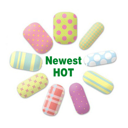 sales new latest 14 tipsset candy color trendy nail art wraps sticker foils cover - Buy Candy By Color