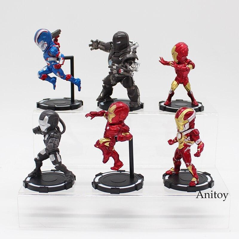 6pcs/set Iron Man 1/7 scale painted figure PVC Figure Collectible Model Toy 8cm KT3977 Ironman 1
