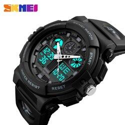 SKMEI Homens Esportes Relógios Display Digital Duplo Tempo Chronograph Watch 50 m Watwrproof Semana Relógios de Pulso Relogio masculino 1270