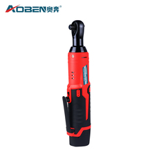 цена AOBEN 12V 3/8 Electric Wrench Rechargeable Scaffolding Cordless Ratchet Wrench With 2 Packs Lithium-Ion Battery в интернет-магазинах