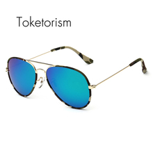 Toketorism Hot new fashion 2017 camouflage pilot sunglasses men polarized uv400 quality camo denim glasses 5203