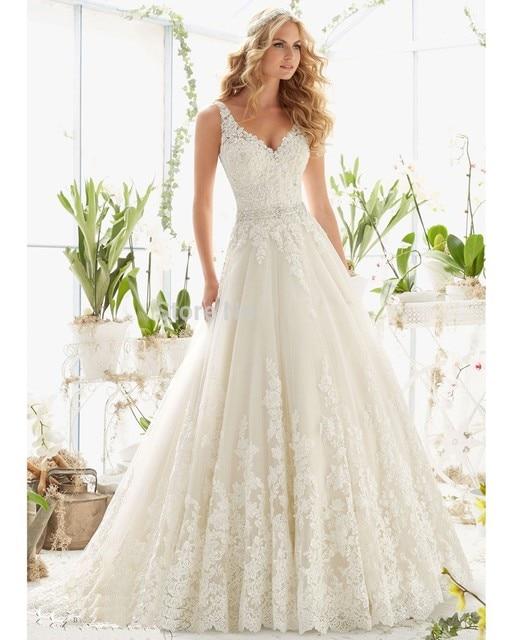 Abiti da sposa Cap Sleeve Wedding Gowns 2016 Sexy Backless Lace Plus Size Wedding Dress Princess Vestidos de Noivas Casamento