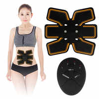 Fitness Vibration plate Abdominal Muscle Trainer Press Stimulator Gym Equipment EMS Exercise Muscle Training Machine