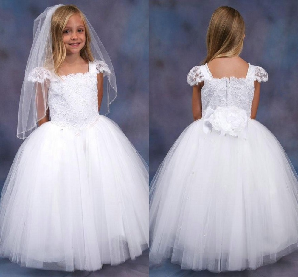 Gowns For Girls: 2015 Lovely White Fashion White Beautiful Lace Ball Gown