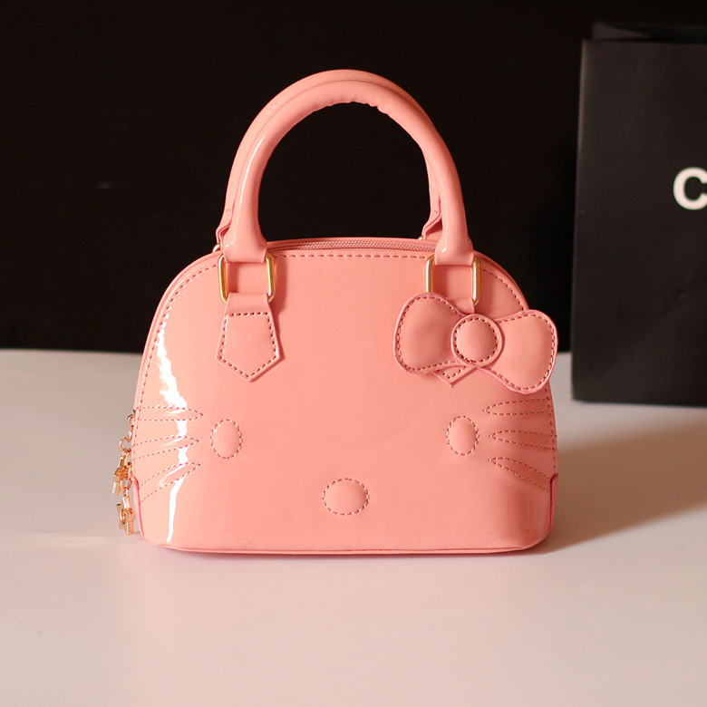 55c563ab41 New Arrival Baby Girls hello kitty Bags Girl Accessories Kids Handbags  Children PU Party Shell Bag Shoulder Bucket bags-in Top-Handle Bags from  Luggage ...