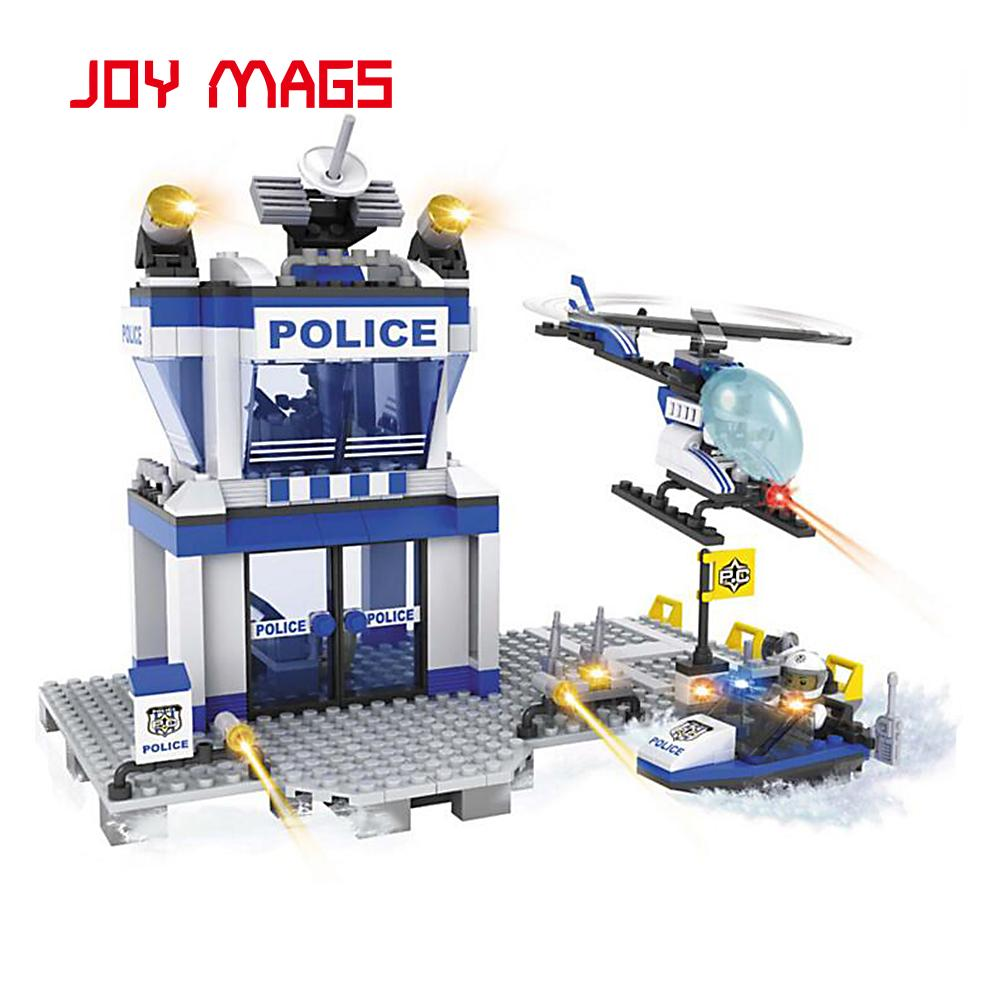 ФОТО JOY MAGS 10123 Building Blocks Bricks Model Collection Gift Police New Year Gift  Compatible with L Branded Block