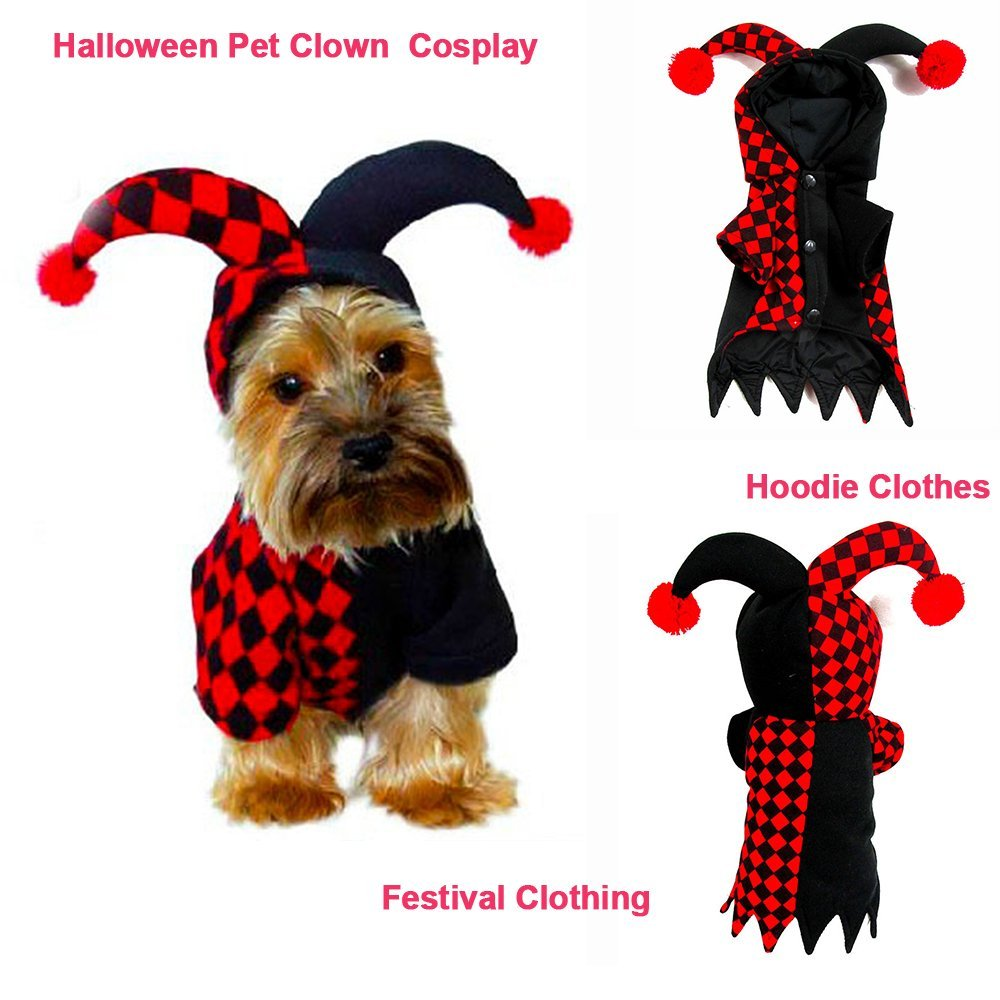 3b585bf34c66 Elf Pet Dog Cat Christmas Xmas Costume Santa Pet Apparel Three Dimensional  Winter Clothes Hoodies-in Dog Coats & Jackets from Home & Garden on ...