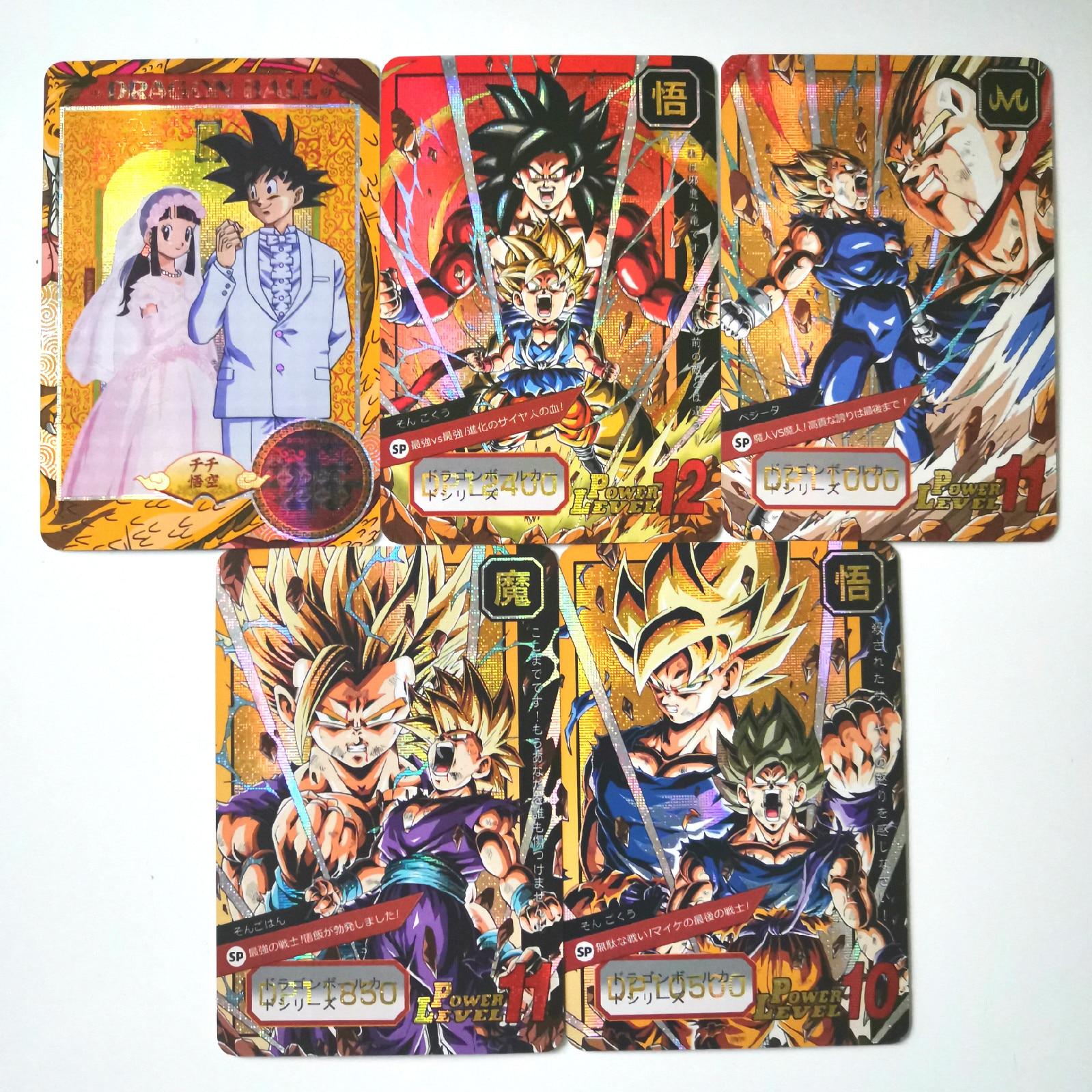50pcs Super Dragon Ball Heroes Battle Card Goku Bulma Master Roshi Dragon Ball Super Game Collection Anime Cards
