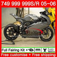Body For DUCATI 749R 999R 05 06 749 999 R Motorcycle 96SH14 Bodywork 749S 999S Silvery grey 749 999 05 06 2005 2006 Fairings kit