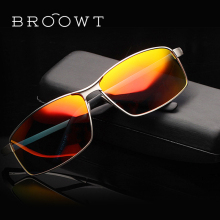 BROOWT Brand Polaroid Sunglasses Men's Women's UV400 Protection Polarized Driving Alloy Sun Glasses For Men Women BR351