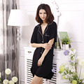 Short Sleeve Sleepshirt Women Sleep Wear Soft Modal Nightwear Button Sleep Shirts XS-M