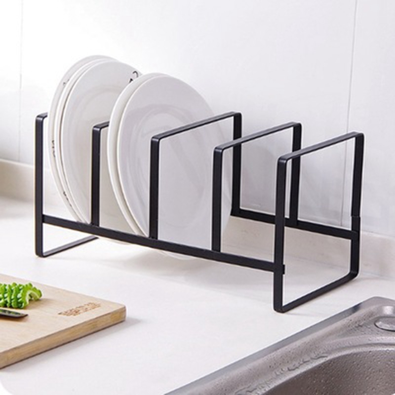 ABLA Kitchen Organizer Pot Lid Rack Stainless Steel Spoon Holder Pot Lid Shelf Cooking Dish Rack Pan Cover Stand Kitchen Acces