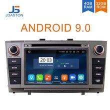 JDASTON Android 9,0 Автомобильный DVD плеер для Toyota T27 Avensis 2009-2014 Octa ядра, 4 Гб + 32G 2 Дин радио мультимедиа gps навигатор Аудио